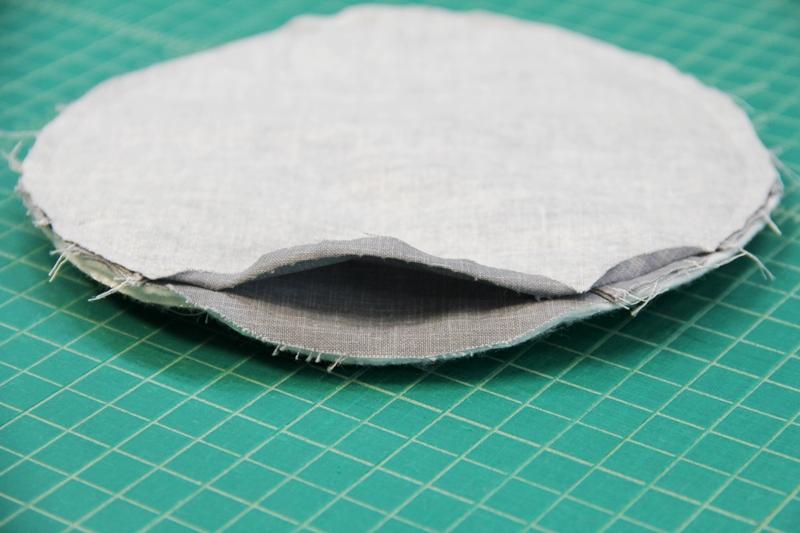 Remove basting stitches