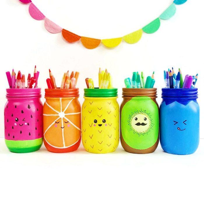 Rainbow Fruit Mason Jars from Color Made Happy