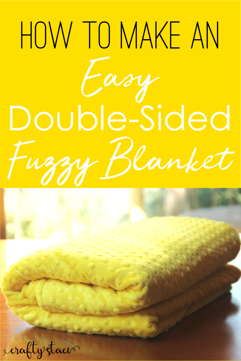How to Make an Easy Double-Sided Fuzzy Blanket from craftystaci.com #blanket #easysewing #giftstomake