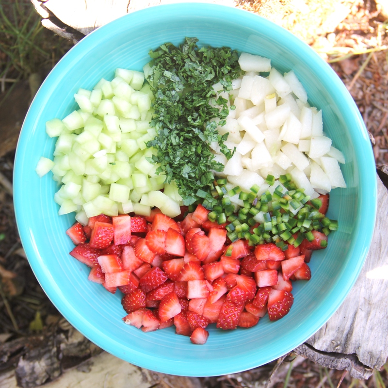 Ingredients for Autumn Strawberry Salsa