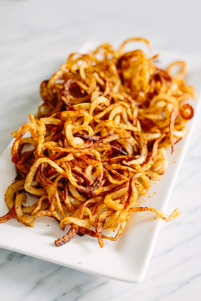 Crispy Baked Spiralized Fries from Inspiralized