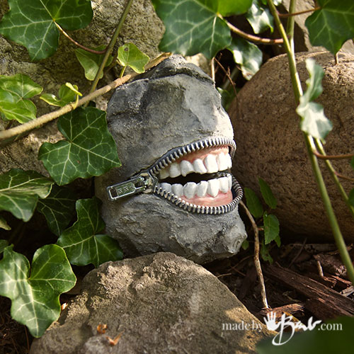 Concrete Smiling Stones from Made by Barb