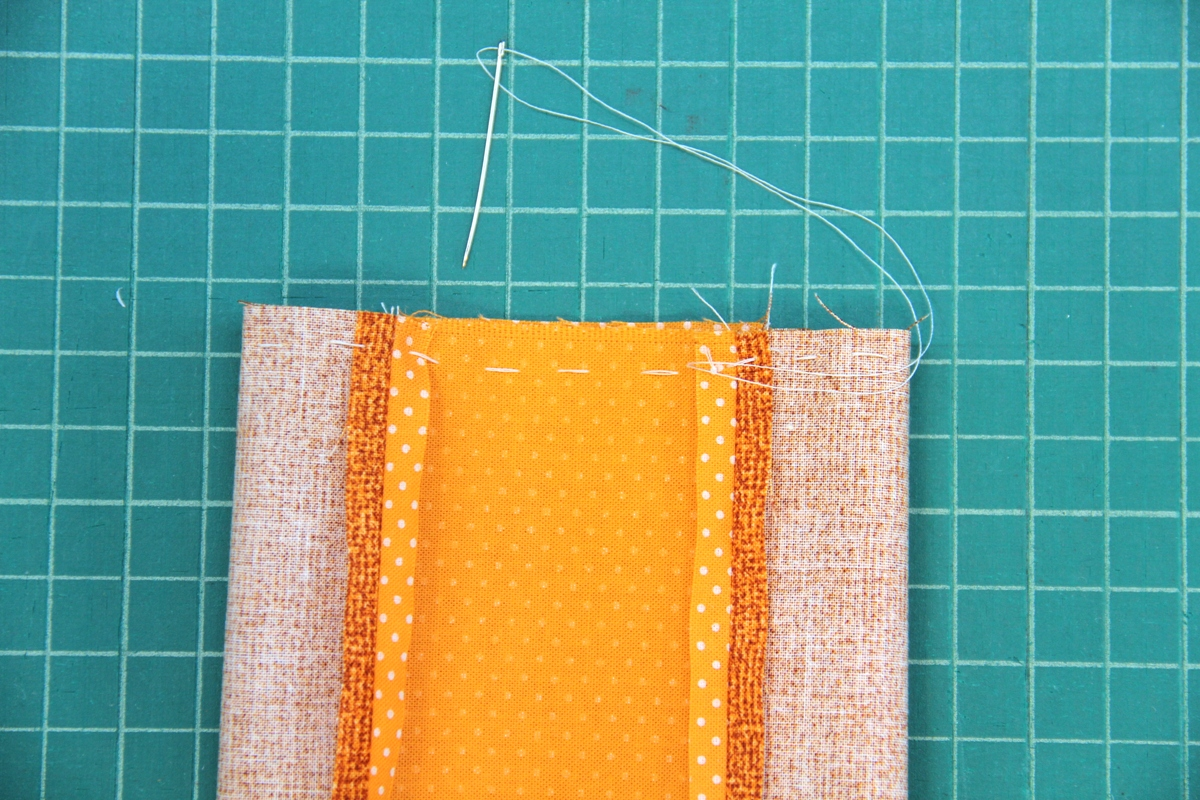 Hand stitch to gather