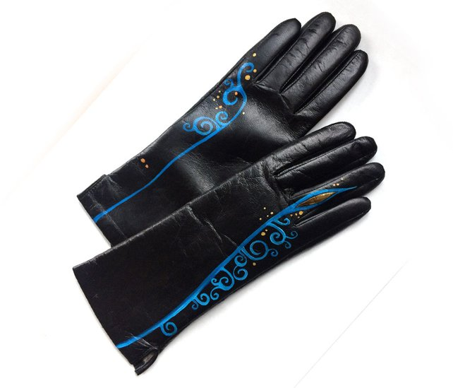 Painted Leather Gloves from InGAartWork