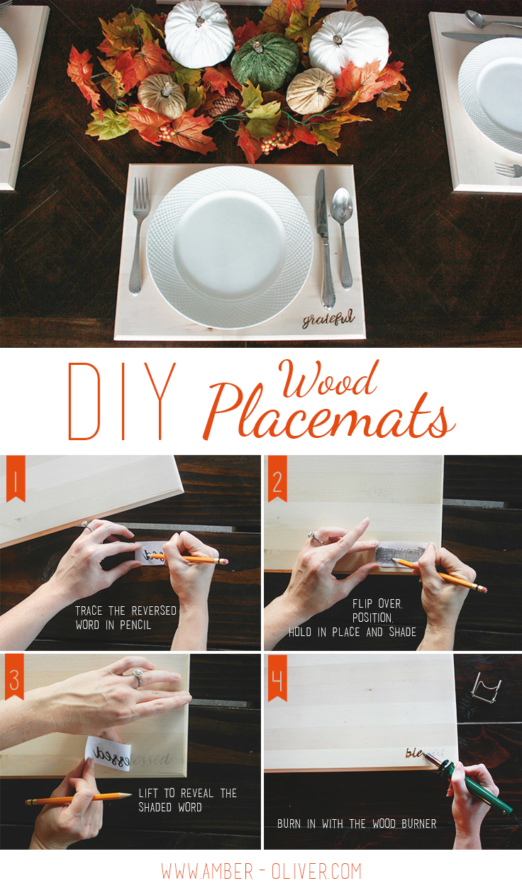 Wood Placemats from Amber Oliver