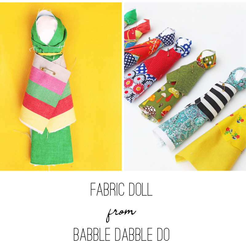 Fabric Doll from Babble Dabble Do