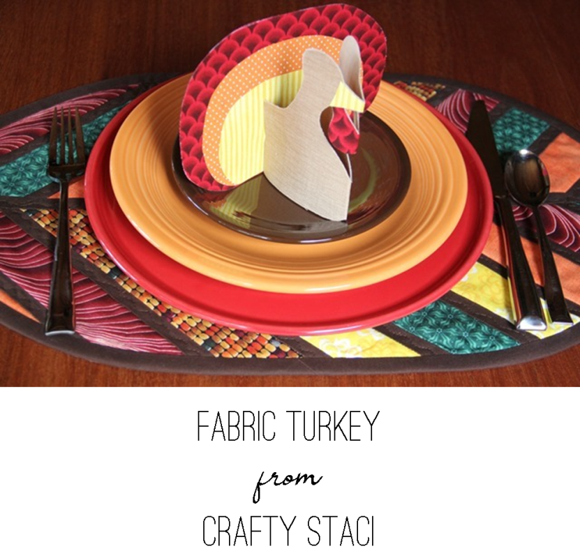 Fabric Turkey from Crafty Staci