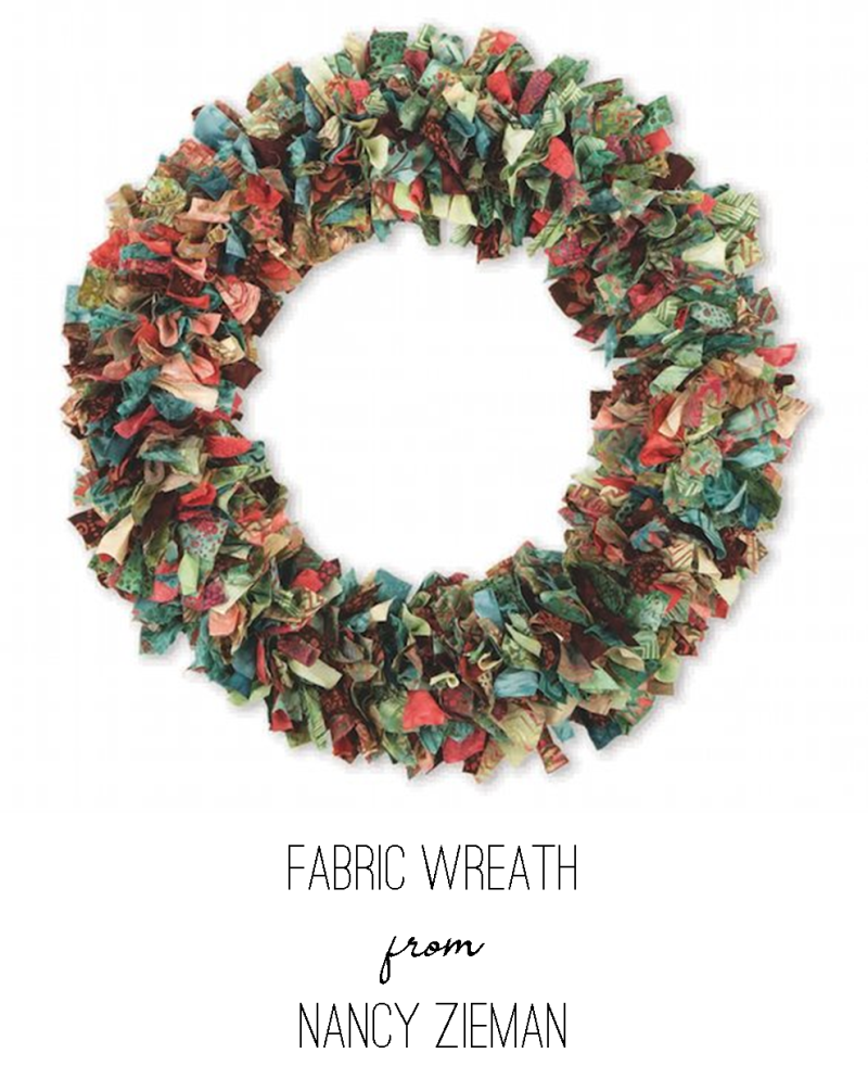 Fabric Wreath from Nancy Zieman