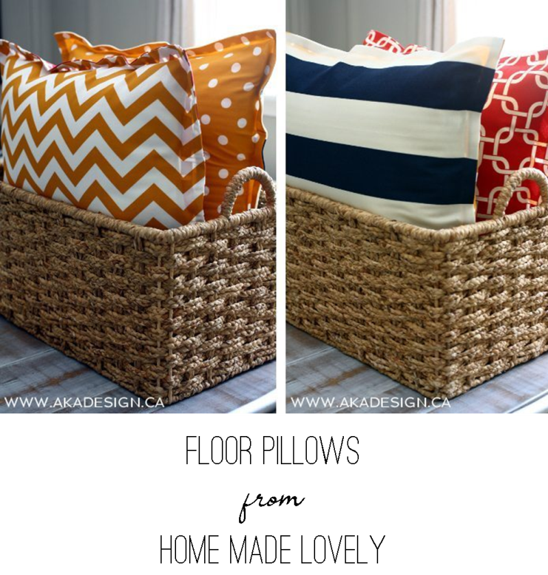 Floor Pillows from Home Made Lovely