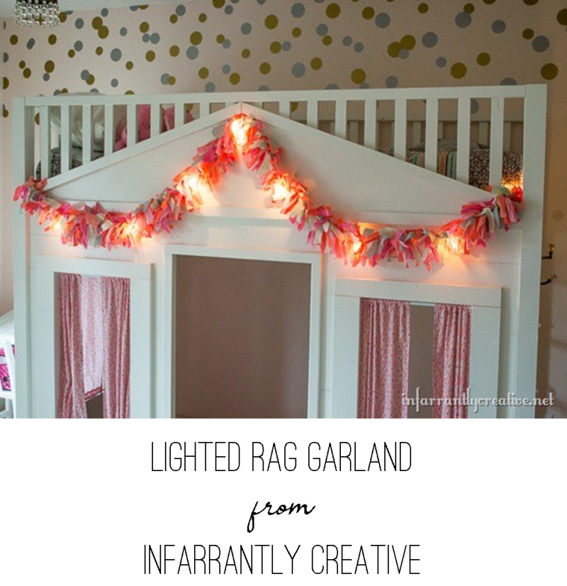 Lighted Rag Garland from Infarrantly Creative