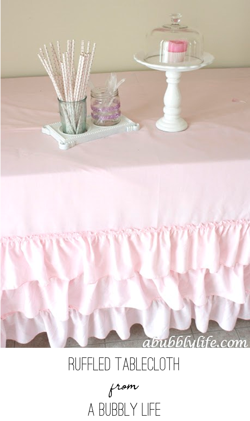 Ruffle Tablecloth from A Bubbly Life