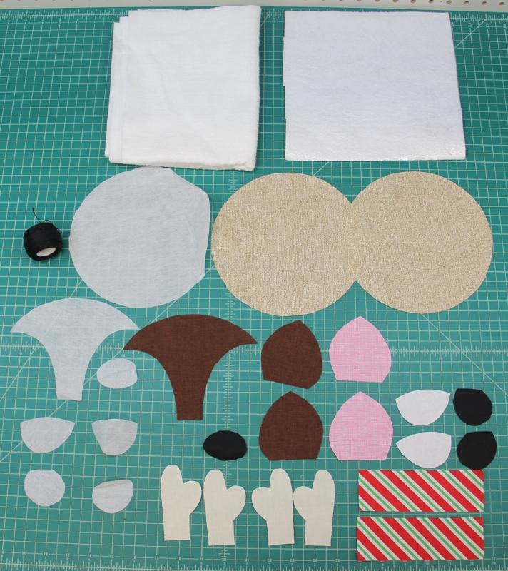 Reindeer mug mat pieces