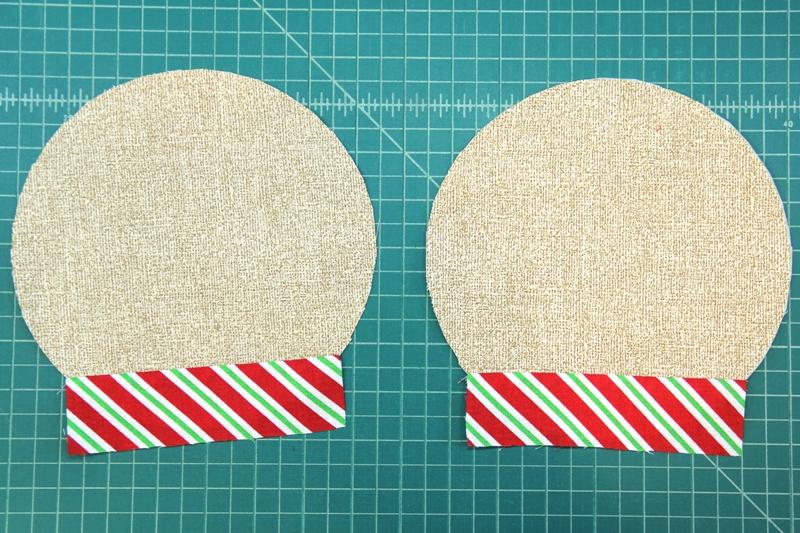 Collars sewn to head