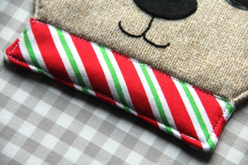 Stitch near top of collar