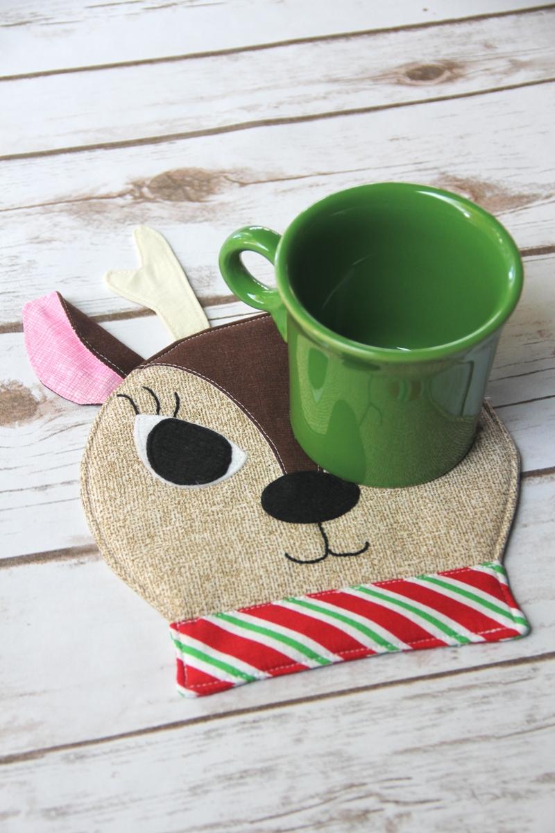 Reindeer Mug Mat with mug from Crafty Staci