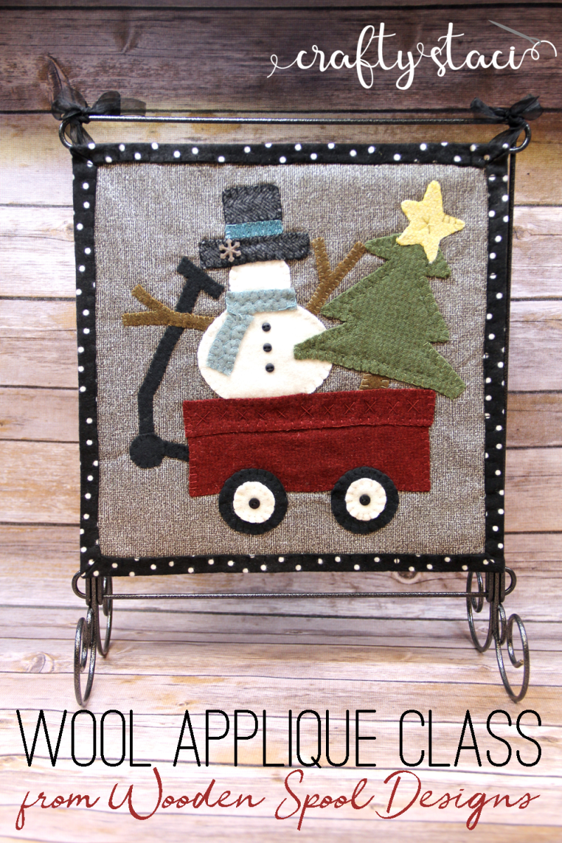 Wool Applique Class from Wooden Spool Designs on craftystaci.com #woolapplique #embroidery