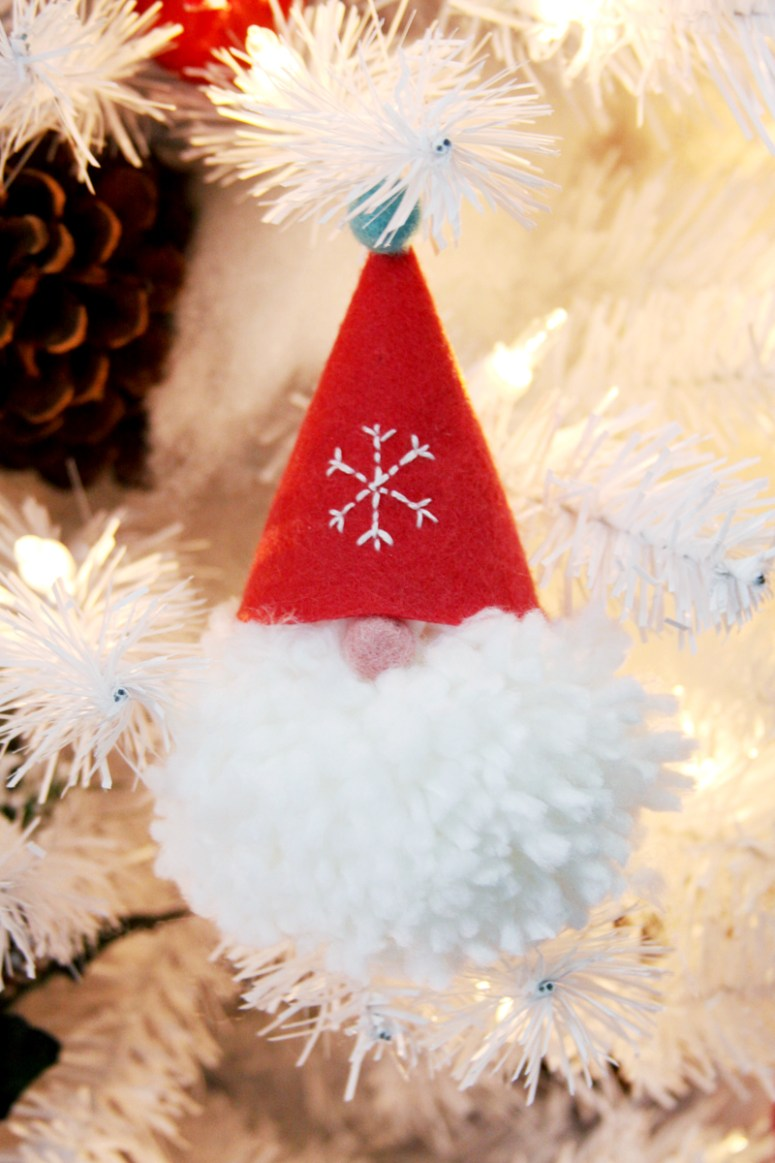 Gnome Pom Pom Ornaments from Tatertots and Jello