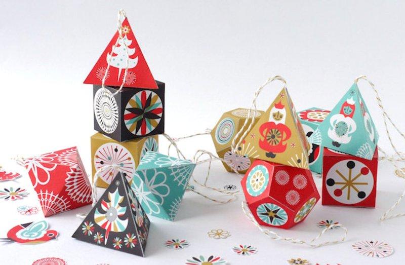 Printable Paper Christmas Decor from SamOsborneStore