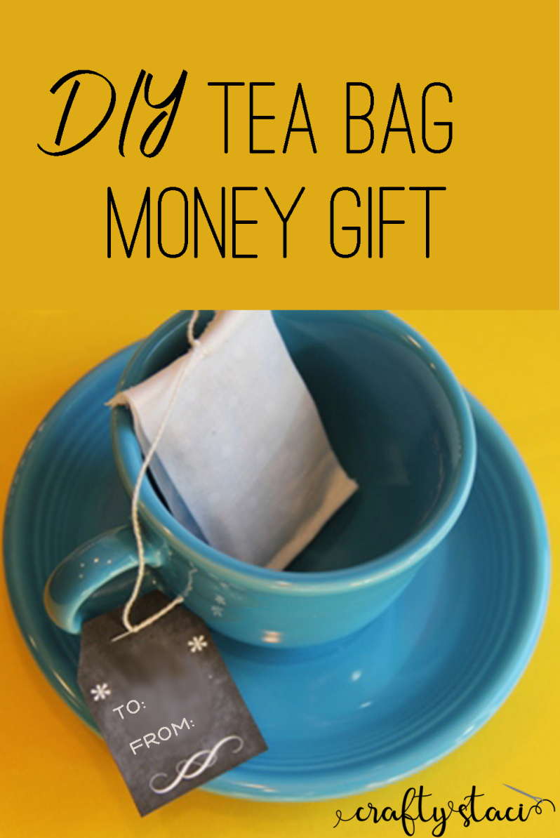DIY Tea Bag Money Gift from craftystaci.com #giftcardholder #cashgiftholder