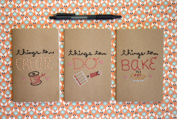 Embroidered Notebooks from Mollie Makes