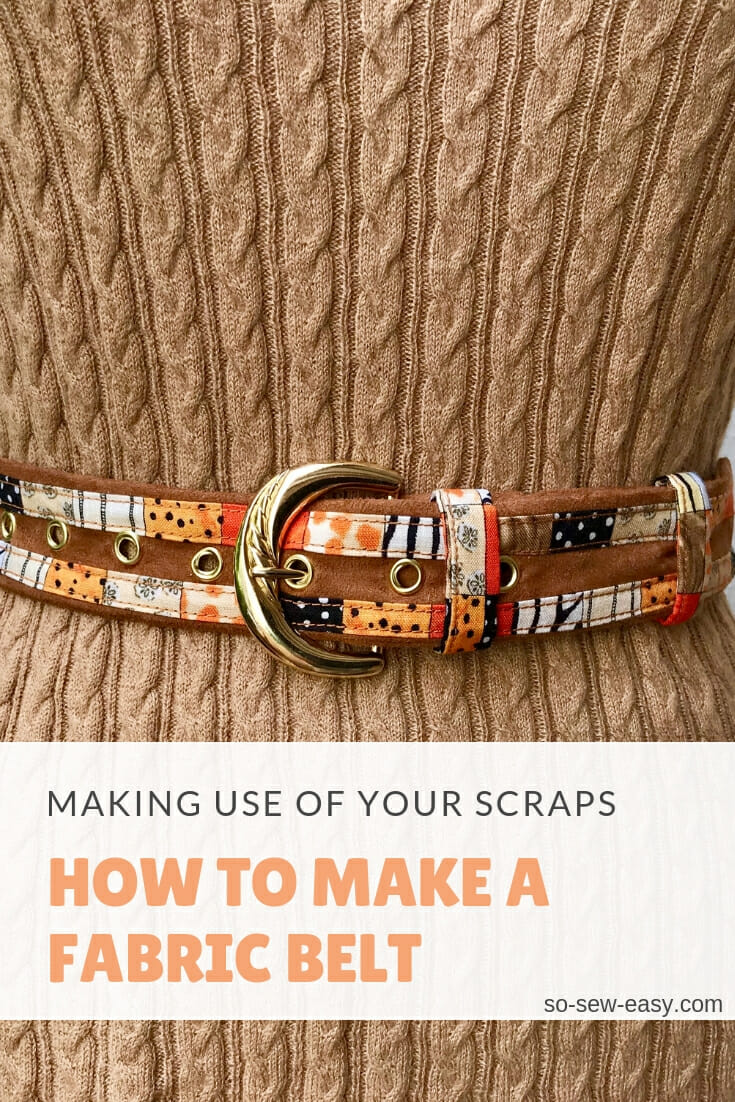 Fabric Belt from So Sew Easy