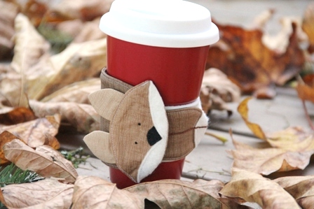 Fox Coffee Cup Sleeve - Crafty Staci