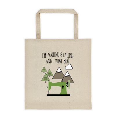 The Machine is Calling Canvas Tote from craftystaci.com #themountainsarecalling #imustgo #sewingtote #sewingbag.png