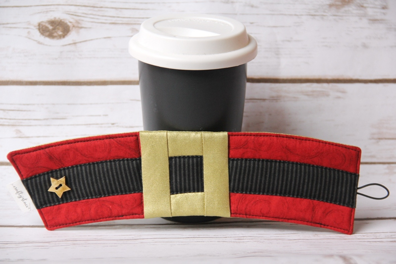 Santa's Belt Coffee Cozy from Crafty Staci