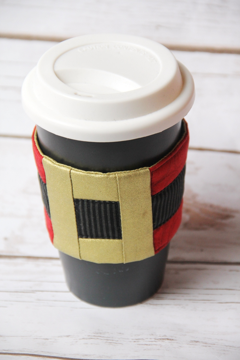 Santa's Belt Coffee Cup Sleeve from Crafty Staci