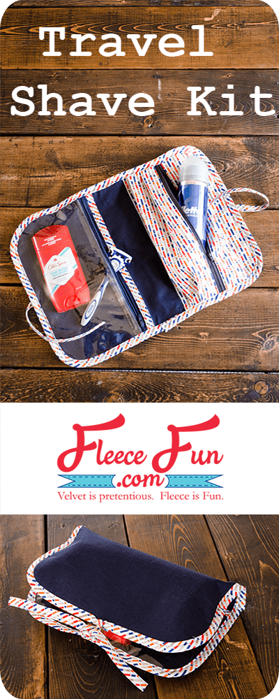 Travel Shave Kit from Fleece Fun