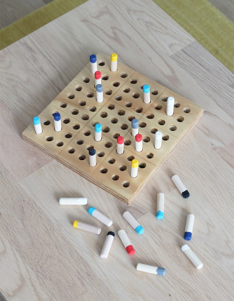 Wooden Sudoku Game from The Crafty Gentleman