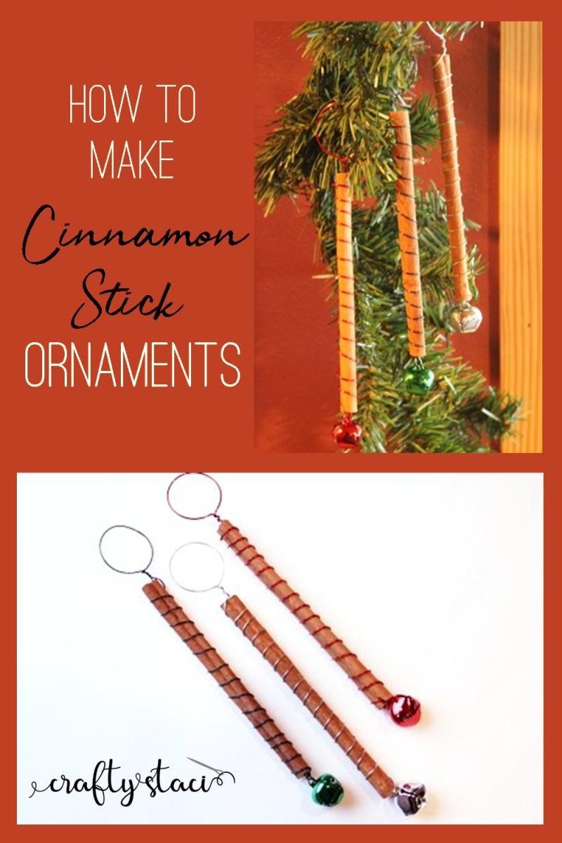 How to make Cinnamon Stick Ornaments from craftystaci.com #cinnamonstickcrafts #diychristmasornaments