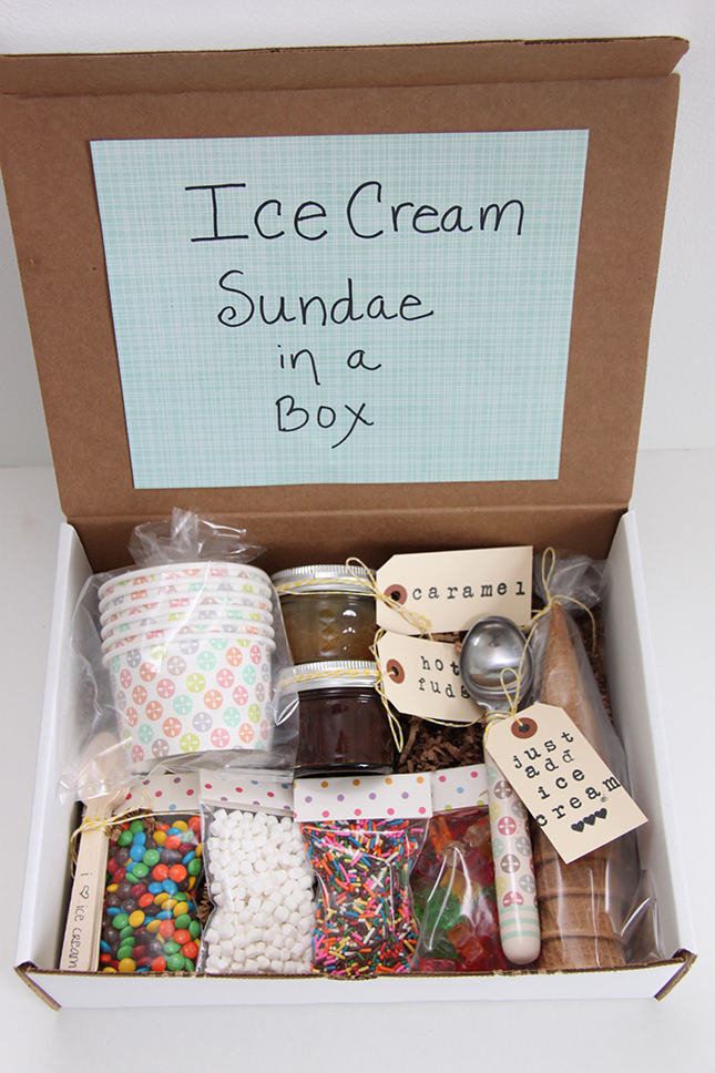Ice Cream Sundae in a Box from Smashed Peas and Carrots