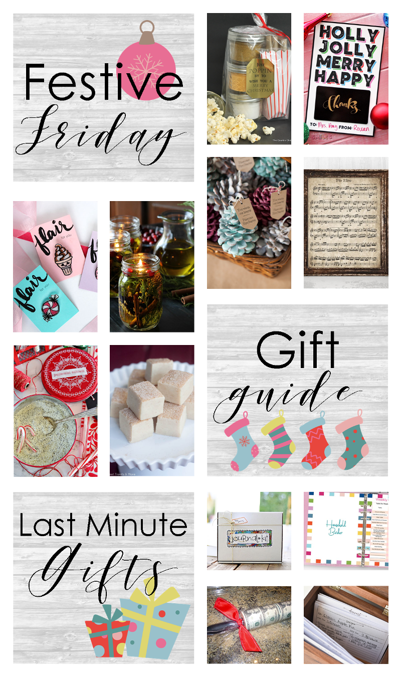 Festive Friday No. 413 - Last Minute Gifts on craftystaci.com #fridayfavorites #festivefriday