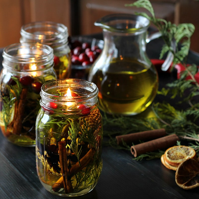 Mason Jar Oil Lamps from Hearth and Vine
