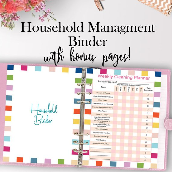 Household Management Binder from PaperdelSol