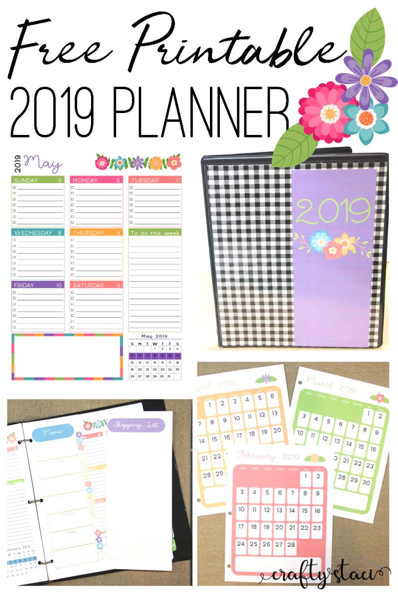 Printable 2019 Planner — Crafty Staci
