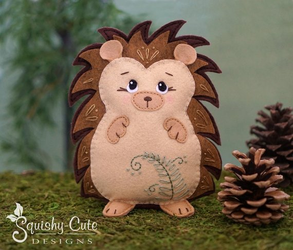 Hedgehog Sewing Pattern from SquishyCuteDesigns