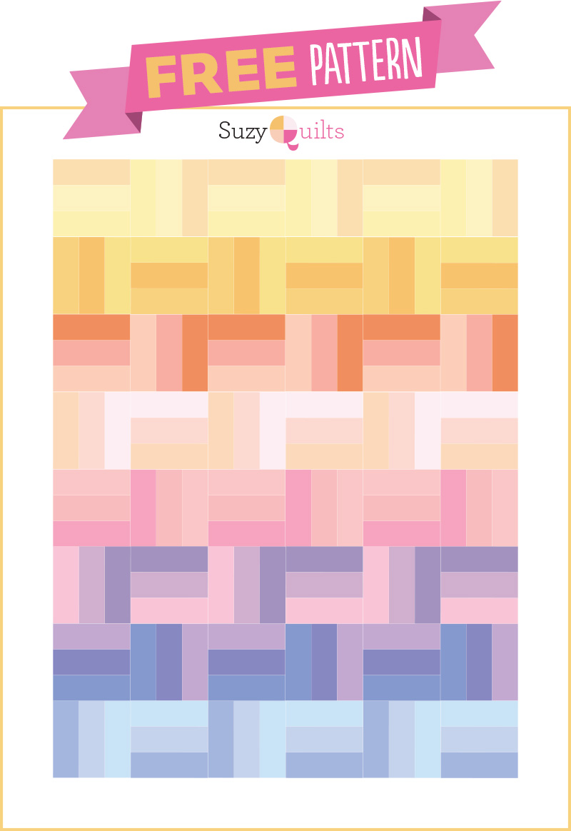 Rail Fence Quilt Pattern from Suzy Quilts