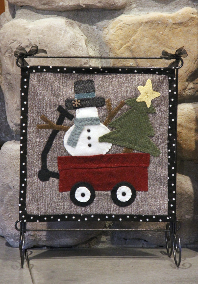 Snowman Wool Applique