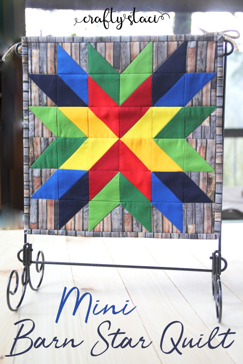 Mini Barn Star Quilt from craftystaci.com #barnquilt #miniquilt