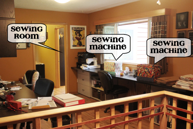 Sewing machines and sewing room