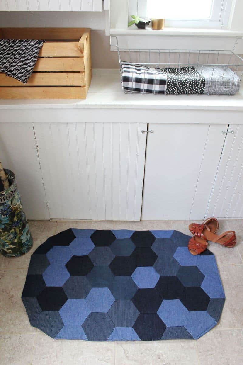 Denim Rug from A Beautiful Mess