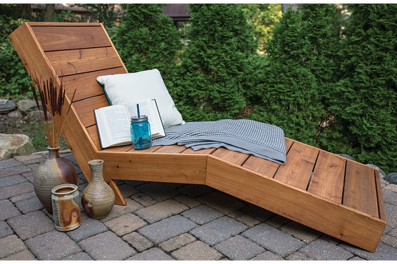 Outdoor Chaise Lounge from Build Something