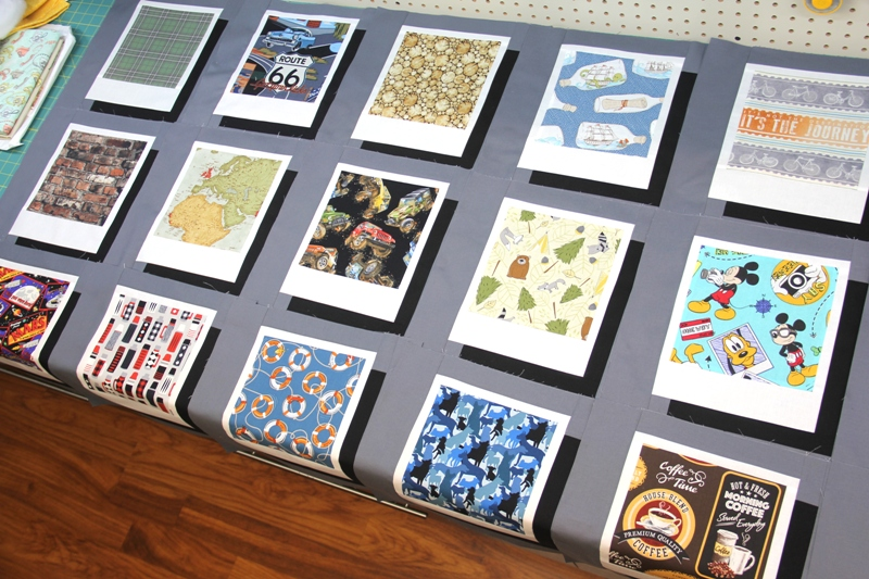 Polaroid quilt blocks