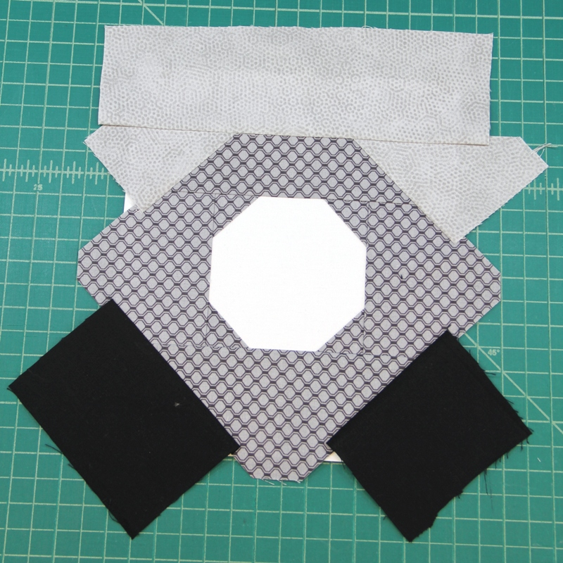All pieces in section A for camera quilt block