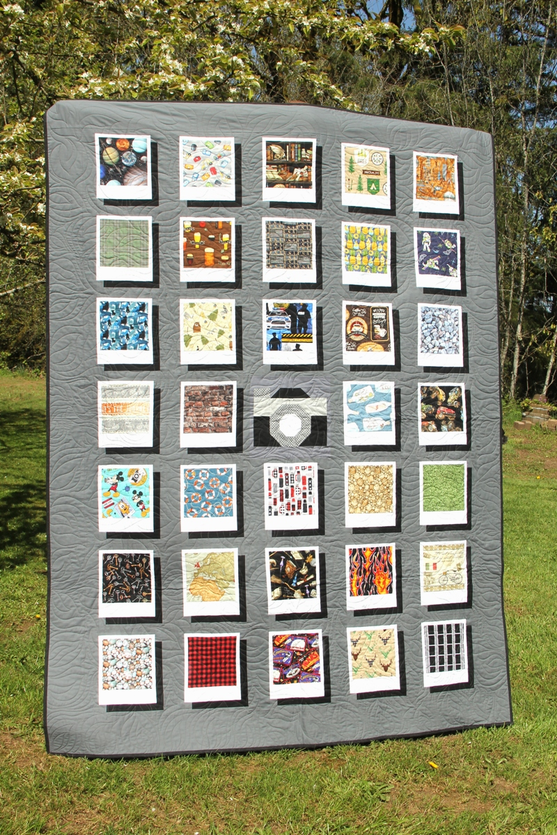 Photo and Camera Quilt from craftystaci.com