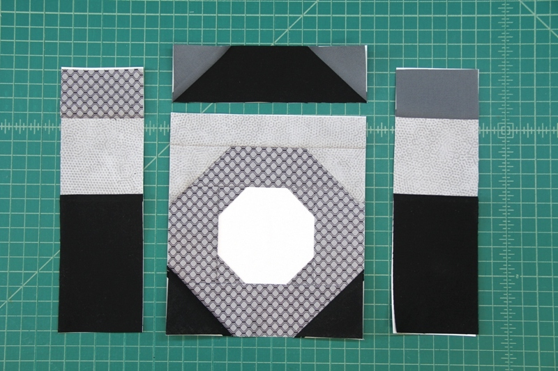 Sections A B C and D for camera quilt block