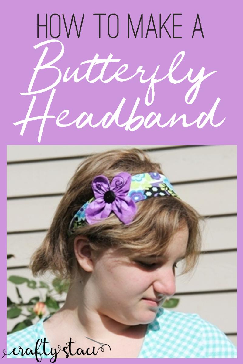 How to make a butterfly headband from craftystaci.com #diyheadband #headbandsewing