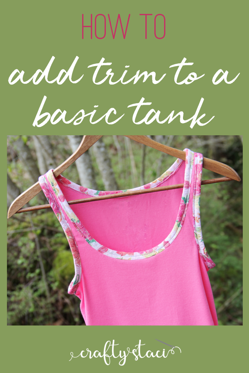 How to add trim to a basic tank from craftystaci.com #refashion #upcycle #clothingrefashion